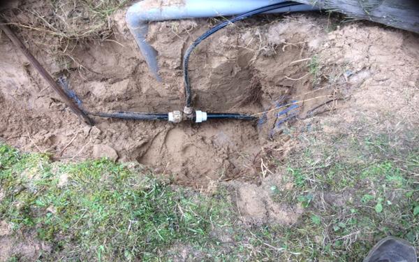 fuite de canalisation d'eau